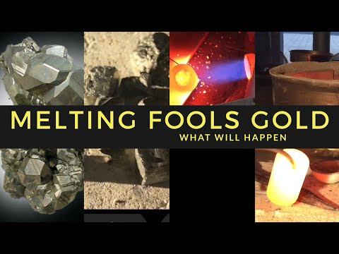 MELTING GOLD (fools gold) START TO FINISH WHAT WILL HAPPEN -PYRITE SMELTING IRON ORE