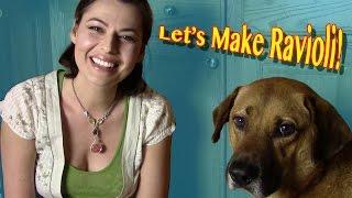 Homemade Ravioli ASMR-style, featuring my dog JACK!