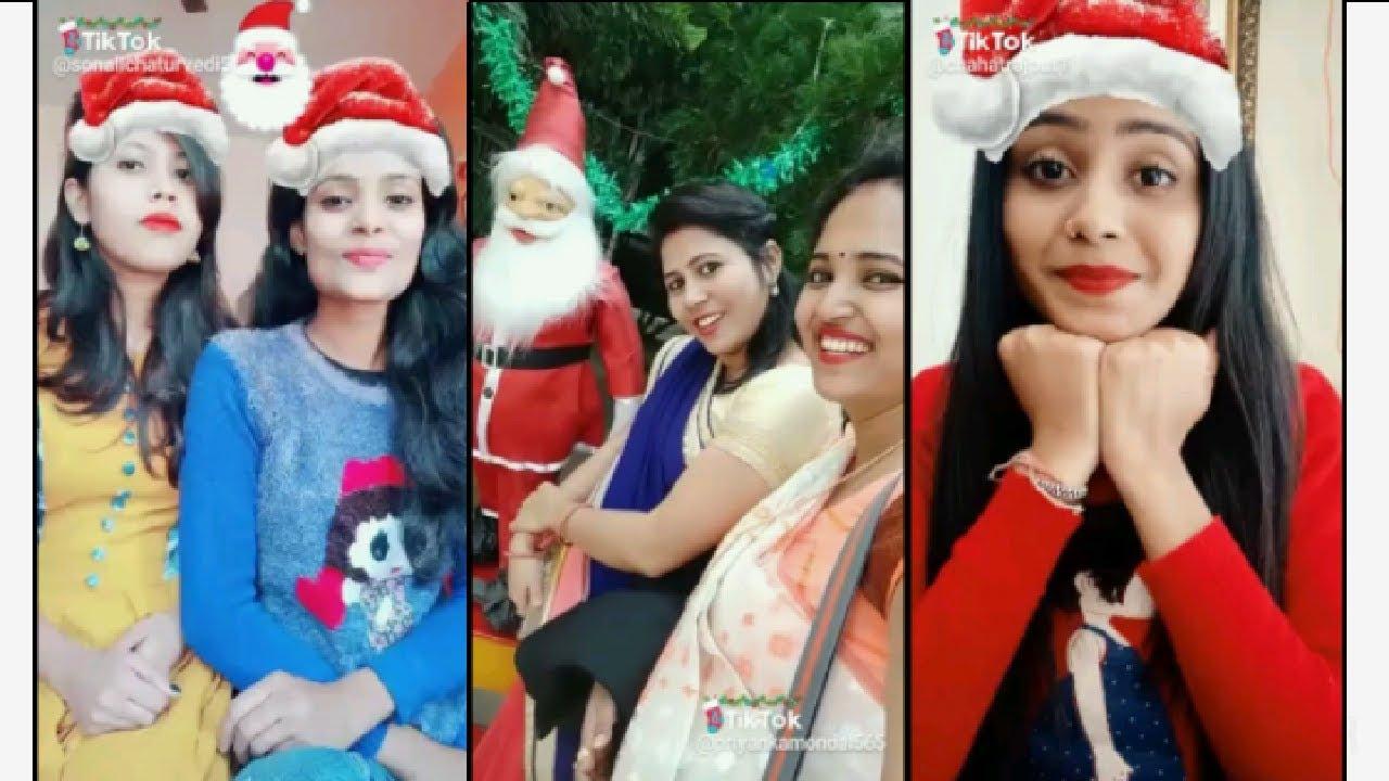 Merry Christmas tik tok musically videos 2018||funny video merry Christmas song & dance Santa ...