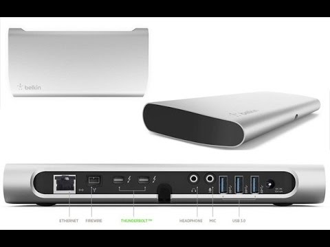 How to connect Belkin Thunderbolt Express Dock Port replicator F4U055 add USB 3.0 on your older iMac