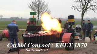 Carbidconvooi KEET 1870 in actie in Oosternieland.