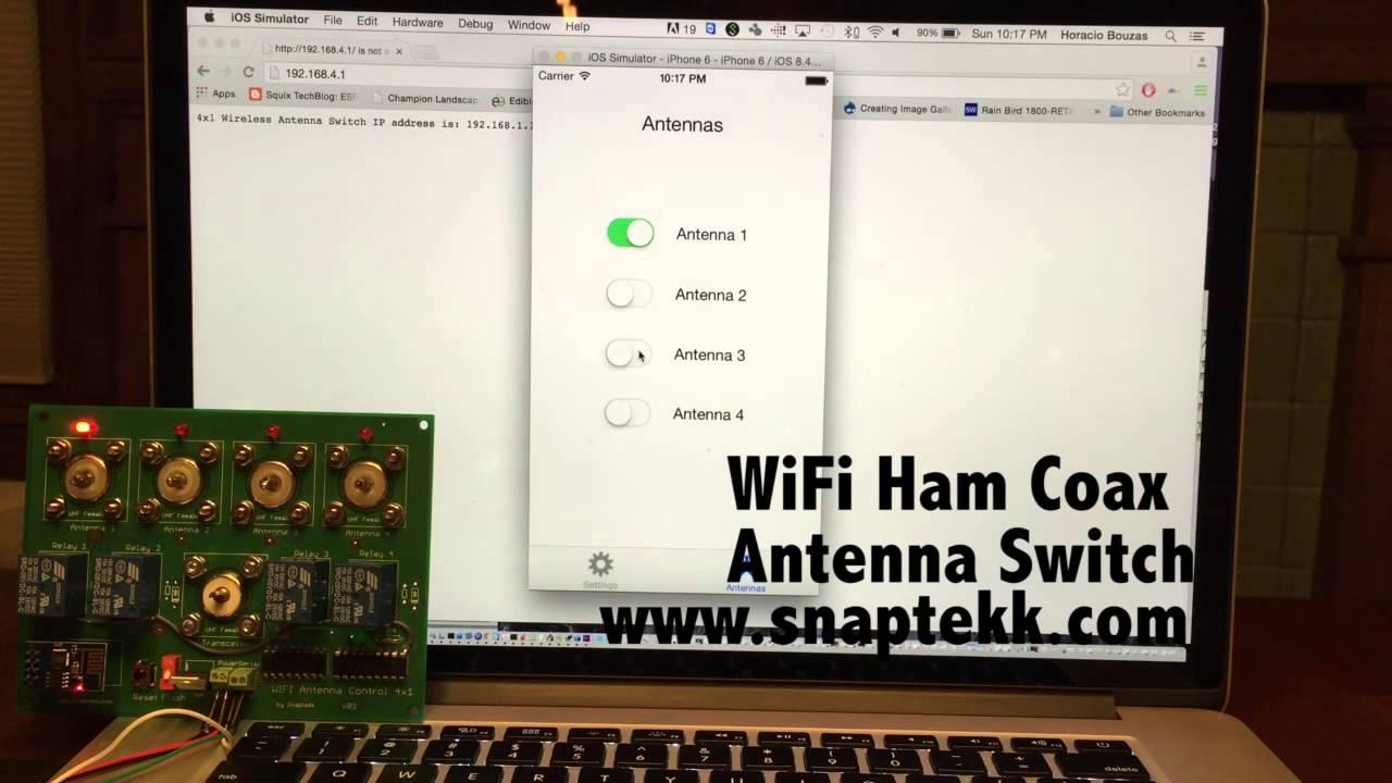 WiFi Ham Radio Antenna Switch 4 Position Free iPhone control app