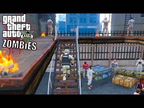 GTA 5 APOCALIPSIS ZOMBIE VS MARINA ARMADA DE MEXICO -EP#9  GTA V MODS PC EdgarFtw