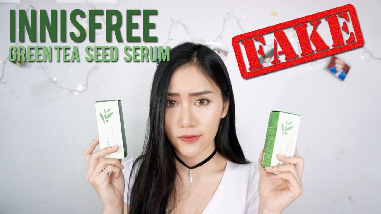 [ ENG CC ] review : FAKE Innisfree Green tea Seed Serum ของปลอมมาแล้วววว    saychzz