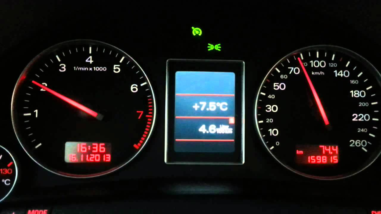 Audi A4 1.8t >> Audi A4 B6 1.8T (BEX) - Consumption in 6 gear - YouTube