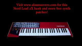 Nord Lead 2X Alan-M Trance / Dubstep Patches -- Virtual Analog Synth