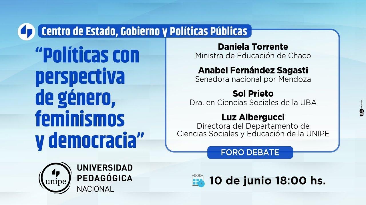 """Foro Debate """"Políticas con perspectiva de género, feminismos y democracia"""""""