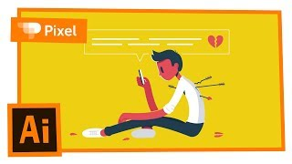 Уроки по Adobe Illustrator | разбитое сердце