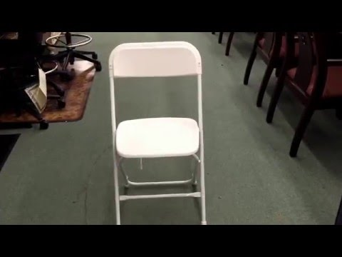 White Plastic Folding Chair - 800 lb weight capacity