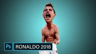 Ronaldo 2018   Photoshop CARICATURE  Tutorial