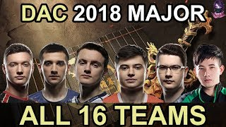 DAC 2018 ALL 16 Participating Teams Highlights Dota 2 by Time 2 Dota #dota2