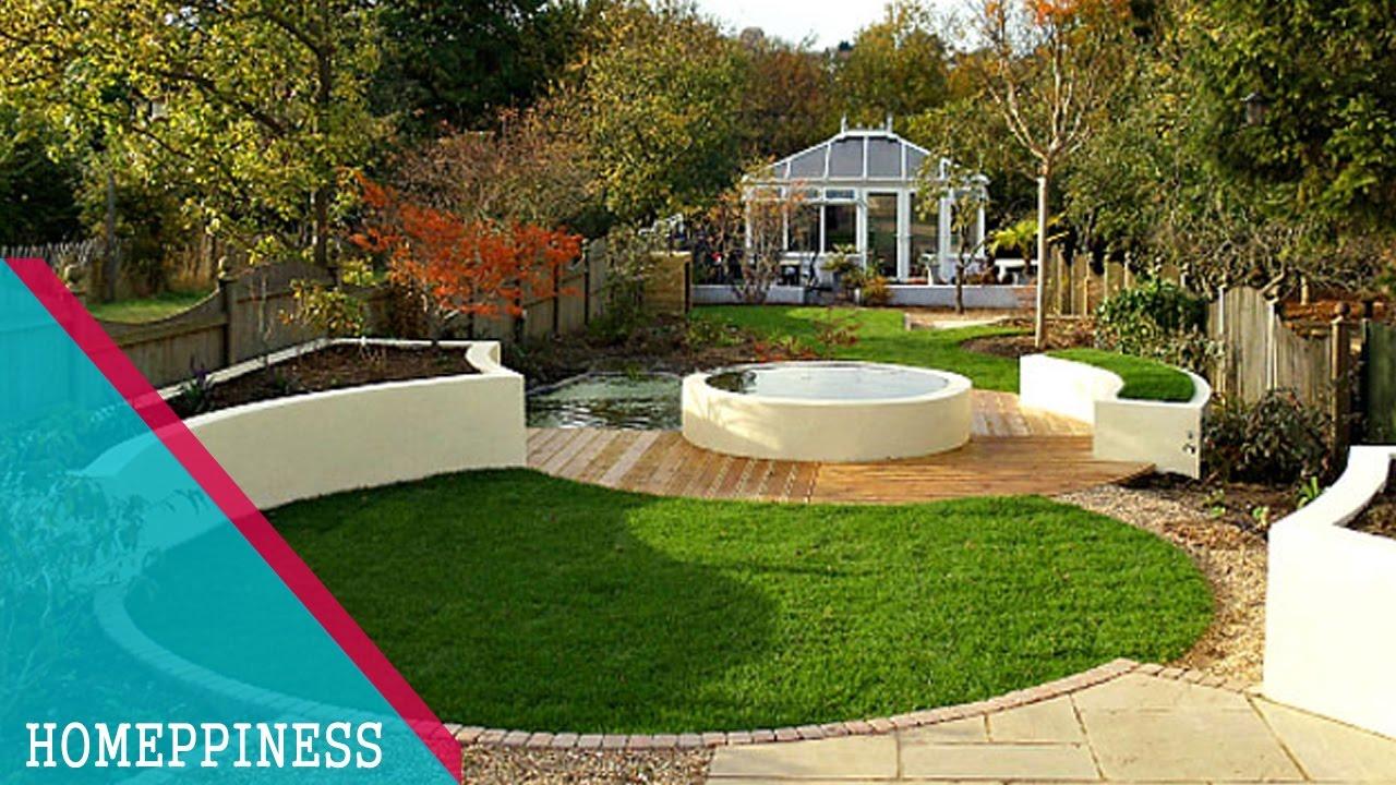 Gorgeus Circular Lawn And Patio Ideas