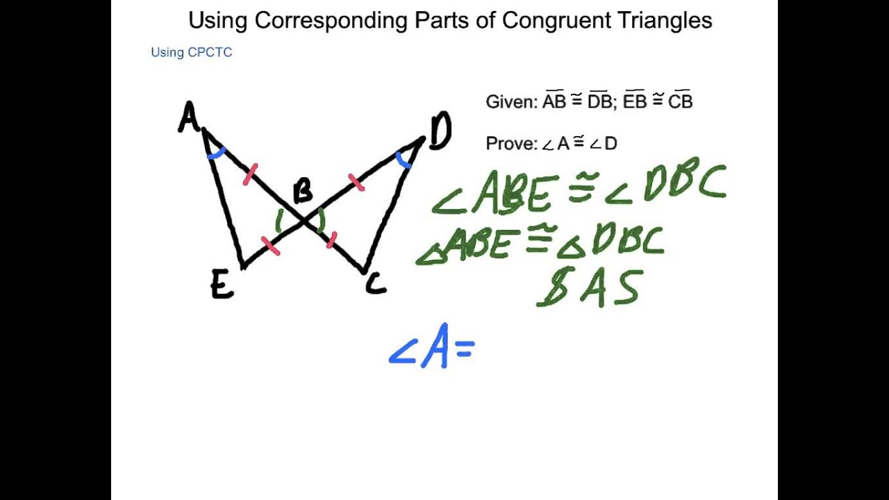 Geometry 4 4 Using Corresponding Parts Of Congruent