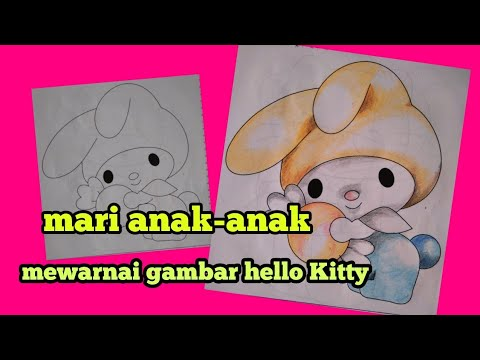 Mewarnai Gambar Hello Kitty Youtube