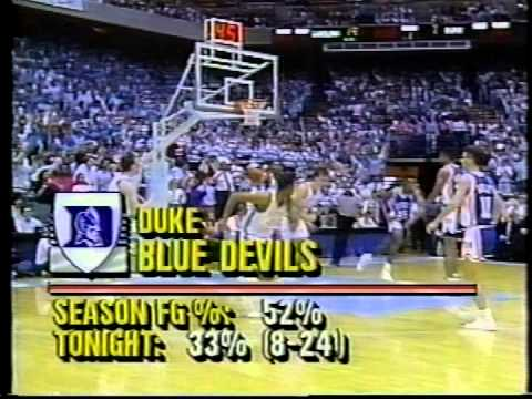 01/17/1990:  #8 Duke Blue Devils at North Carolina Tar Heels
