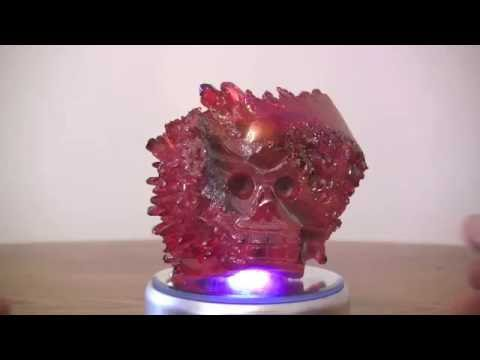 SOLD: 1.9 lb Ruby Red Crystal Skull (Red Head)
