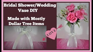 Bridal Shower 💍 Wedding Vase DIY