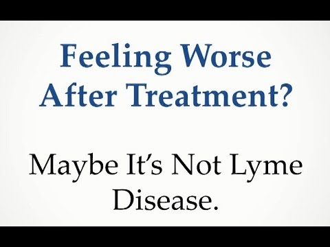 Feeling Worse After Treatment? Maybe It's Not Lyme Disease
