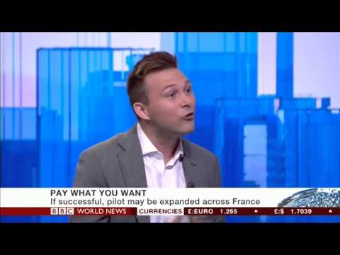 Joe Gladstone on BBC World News: Behavioural Economics and Pay What You Want