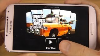 GTA San Andreas Samsung Galaxy S4 Official Android 4.4.2 KitKat Gameplay Test
