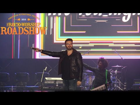 Danny Gokey performing live at The Rock & Worship Roadshow 2016