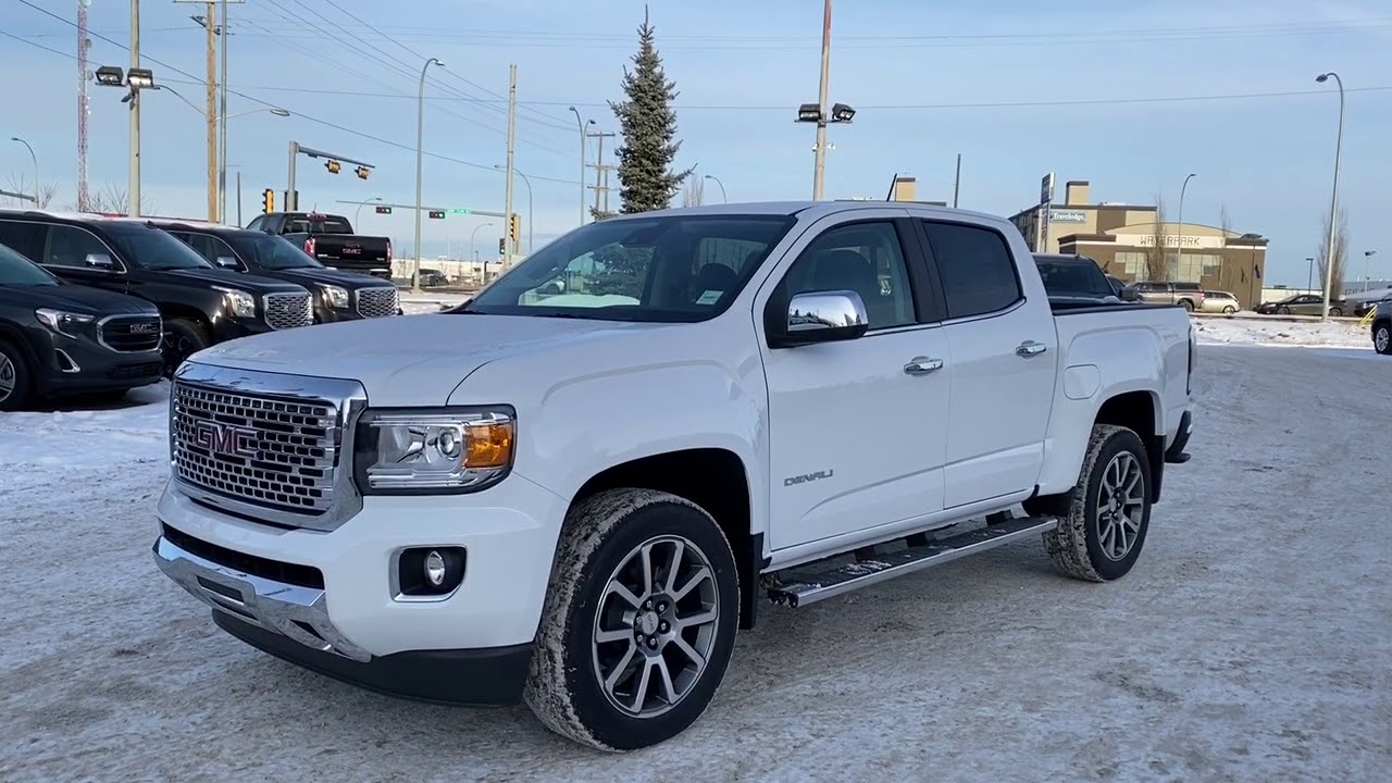 white 2020 gmc canyon 4wd all terrain w  leather review - western gmc buick
