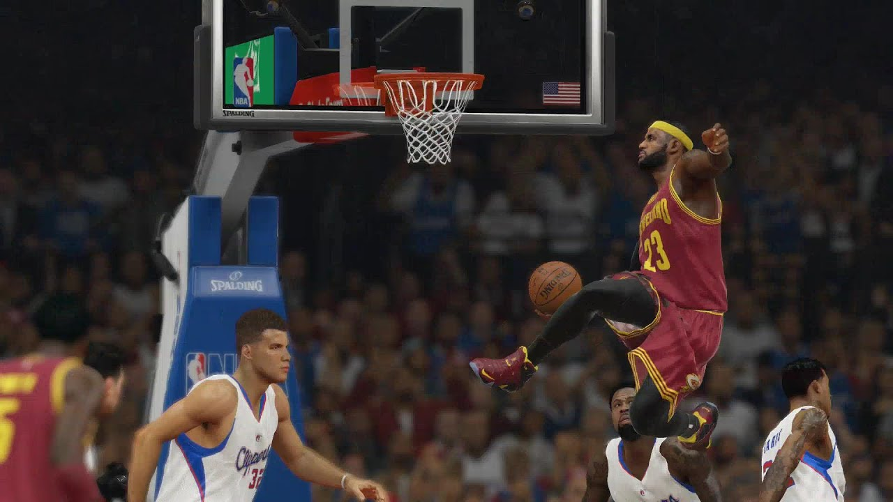 Lebron James Insane Dunk NBA 2k15
