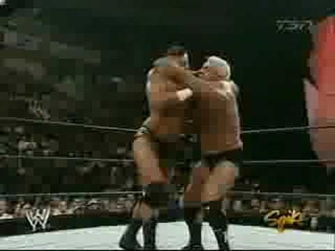 HBK & Randy Orton vs HHH & Ric Flair pt 1