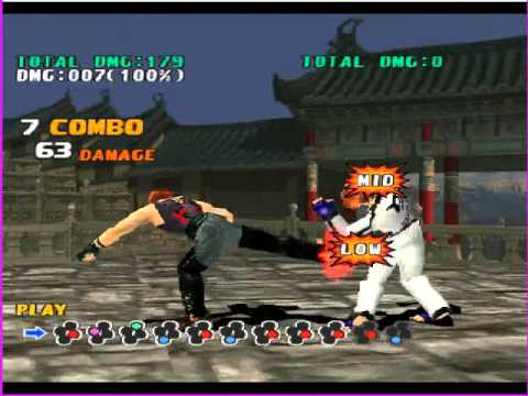 Tekken 3 Hwoarang Combos With Key Youtube