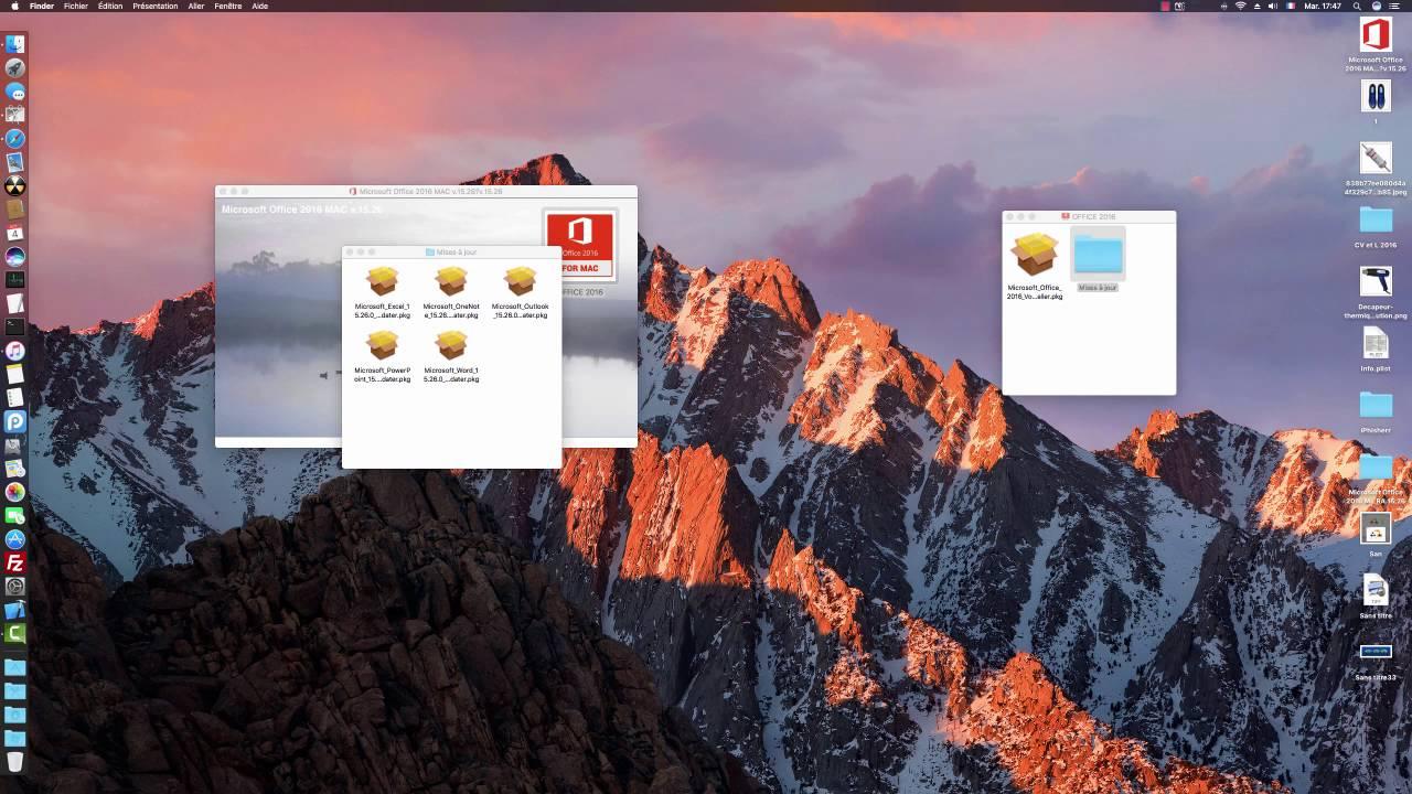 Microsoft Office Pour Mac Os Sierra Youtube