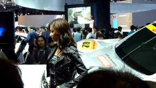 第41回東京モーターショー スバルブース GTカーと共に大人気.