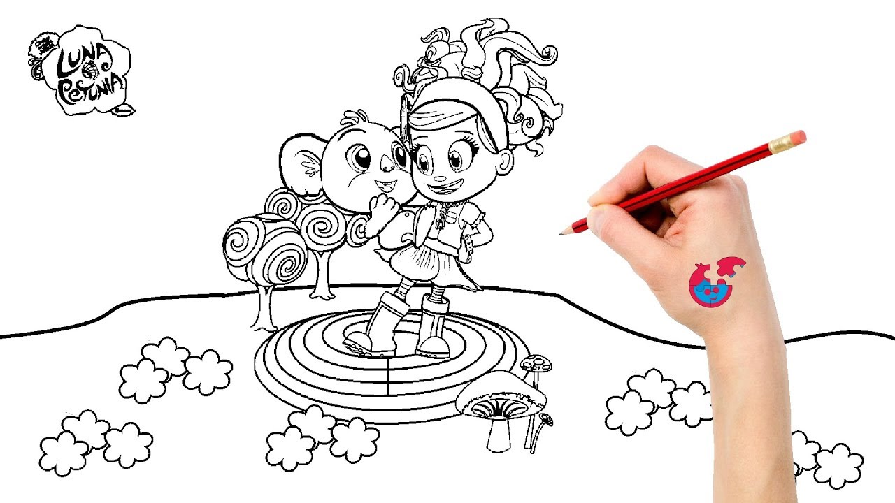 luna petunia coloring pages How To Draw Luna Petunia   Learning Drawing   Puzzle Kid   YouTube luna petunia coloring pages