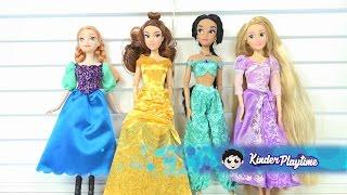 Disney Princess Dress Up Anna Belle Jasmine Rapunzel