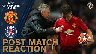 Solskjaer & Herrera reflect on PSG defeat | Manchester United 0-2 PSG | UEFA Champions League