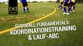 Laufschule und koordinationstraining - wichtige grundlagen für ein erfolgreiches fußballspiel!mehr trainingsvideos, tipps informationen auf http://www.1x...