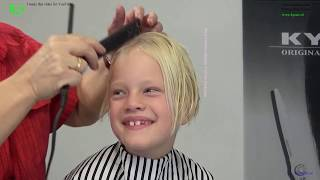 I donate my long blonde hair to kids with cancer! *KIKA* Annelijn long to bob titorial by TKS
