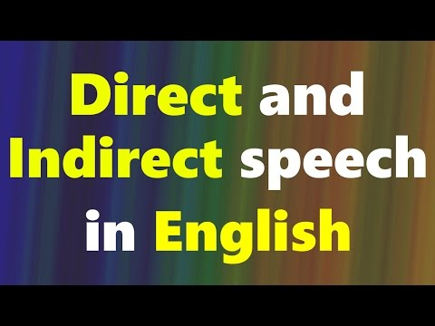 Direct and Indirect Speech in English - English Grammar Lessons in Hindi   English Urdu course