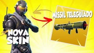 FORTNITE | HOW TO PICK UP NEW SKIN//INCOMING TELEGUIDED MISSILE-NERD EDU