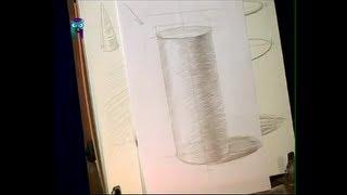 Уроки рисования (№ 1) карандашом. Рисуем конус