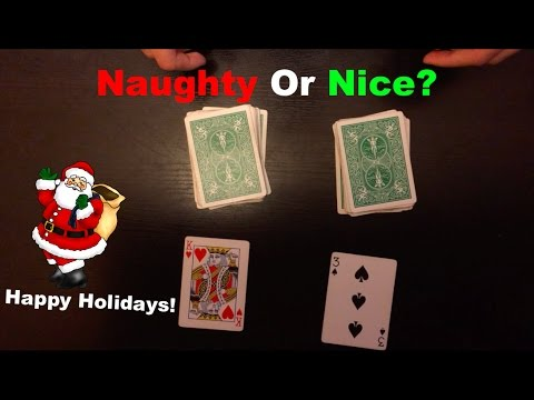 Naughty Or Nice Very Cool Christmas Card Trick