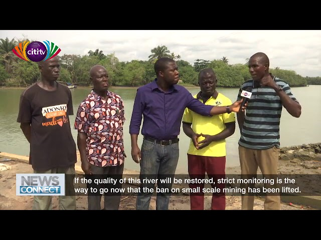 Is the Ankobrah River getting cleaner and better after the ban on galamsey in Ghana?