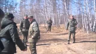 Неудачный запуск российской ракеты ЗРК С-300 во время учений.