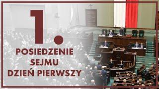 1. posiedzenie Sejmu IX kadencji - dzień pierwszy [ZAPIS TRANSMISJI]