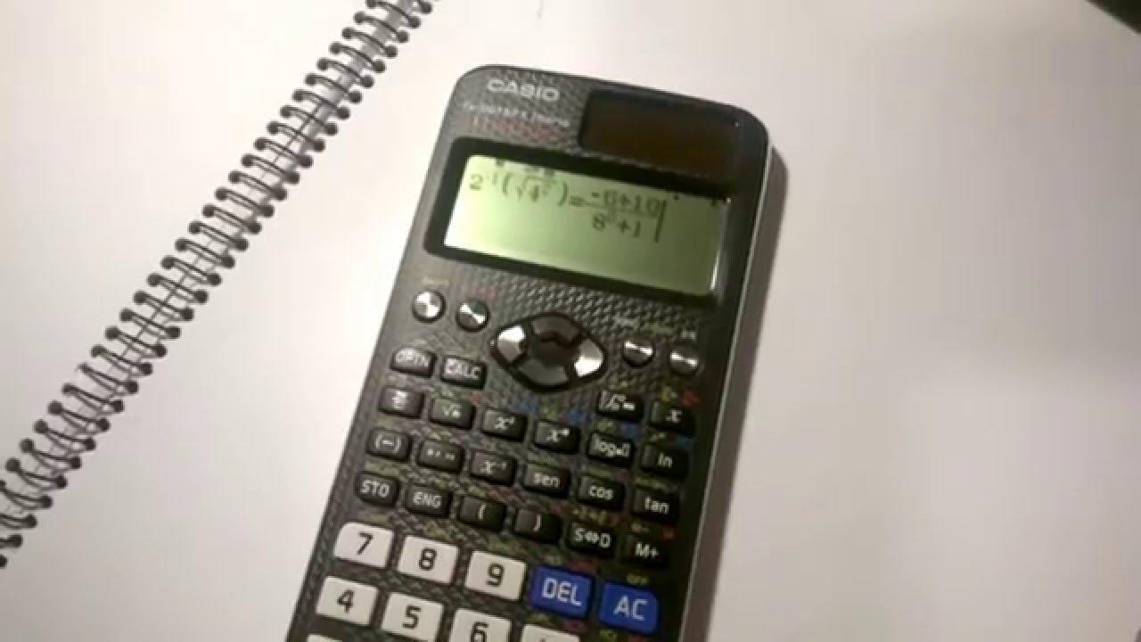 d96b4b11112d Uso de la función VERIFICAR de la calculadora Casio Classwiz fx-991 SP X -  YouTube