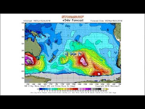Stormsurf Vidoe Surf and MJO/ENSO Forecast for Sun (7/15/18)