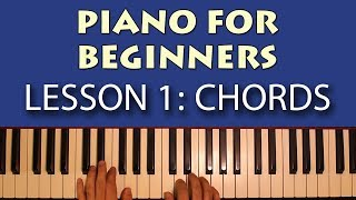 Piano Lessons for Beginners: Part 1 - Getting Started! Learn some simple chords