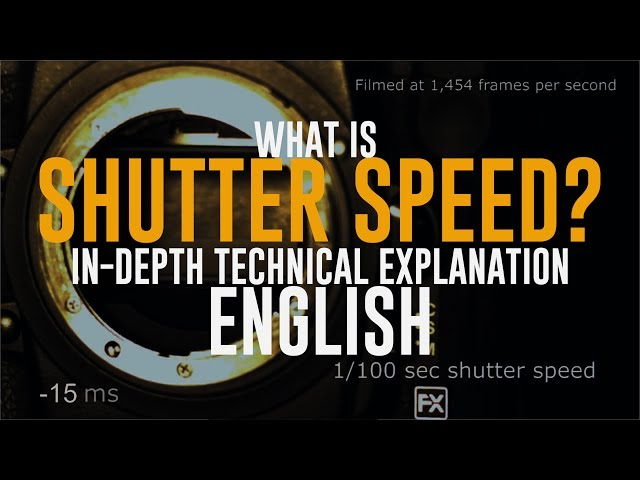 English | What is Shutter Speed in Photography? In-Depth Technical Explanation | Beginners Tutorial