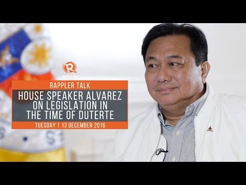Rappler Talk: House Speaker Pantaleon Alvarez