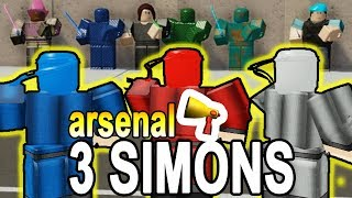 3 SIMONS in ARSENAL (ROBLOX SIMON SAYS)