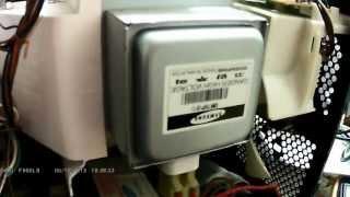 SAMSUNG GE87L микроволновая печь выключается сразу после старта. ремонт